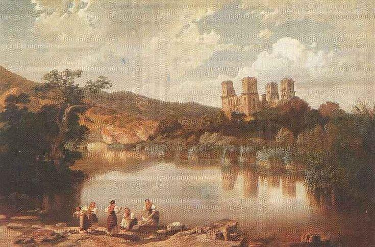 Telepy Károly: A diósgyőri várrom (1860)
