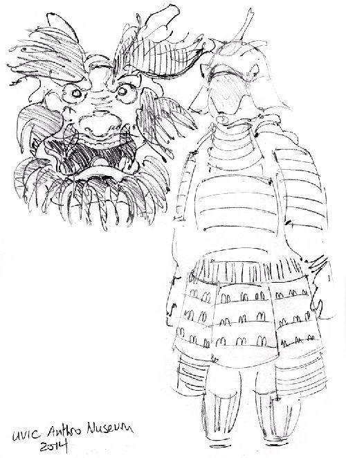 Samurai sketch Sketchbook – Crystal Smith   Check out the sketchbook for more! #sketch #sketchbook #drawing #draw #art