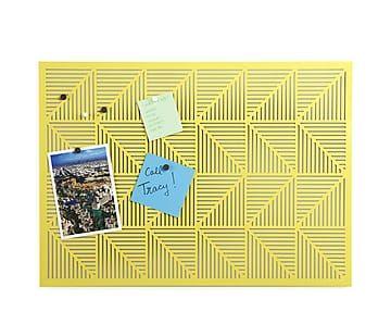 Декор для стен Trigon - металл - желтый - 38х52,7х1,9 см