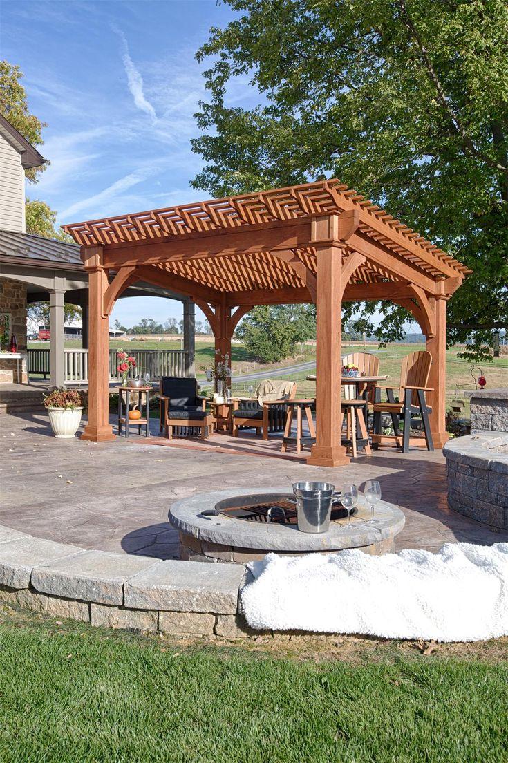 Amish Santa Fe Pine Pergola Kit Pergola, Outdoor pergola