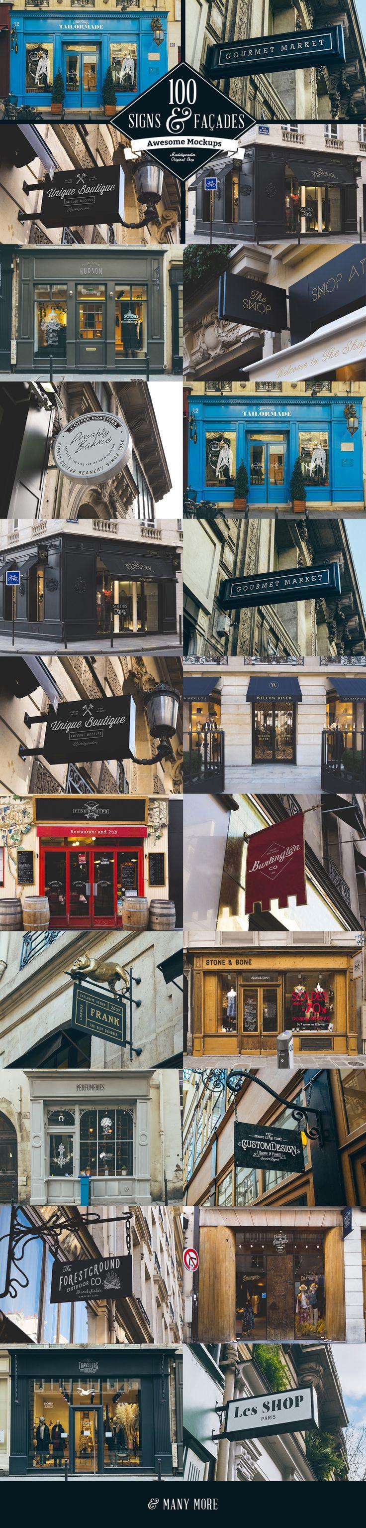 Preview of 100 Signs & facades Mockups. #sign mockup #mockup #facades mockup…