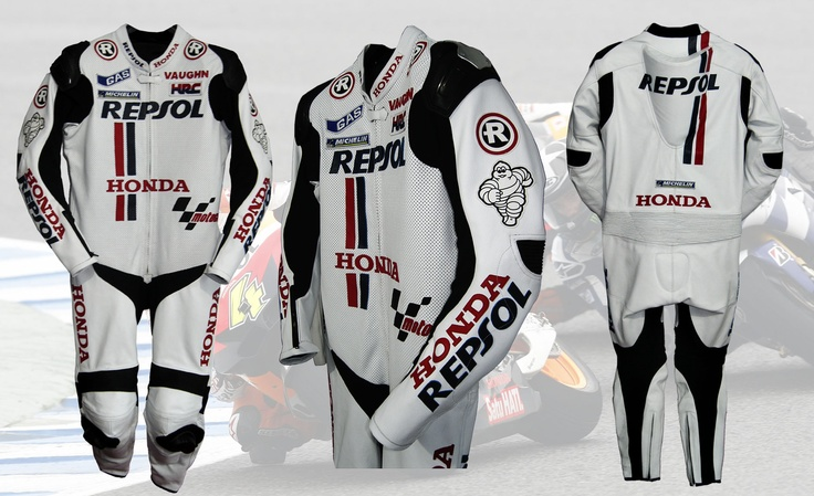 Honda Repsol White Suit    Honda Repsol Suit is For SALE....    For more Detail:  http://www.facebook.com/pages/Branded-MotorBike-Clothing/285514161501218