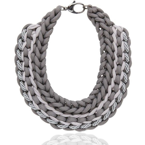 ALIENINA Synthesis Collection Necklace (625 BRL) ❤ liked on Polyvore featuring jewelry, necklaces, accessories, collares, jewels, grey, lobster clasp necklace, nautical necklace, collar jewelry and jewel collar necklace