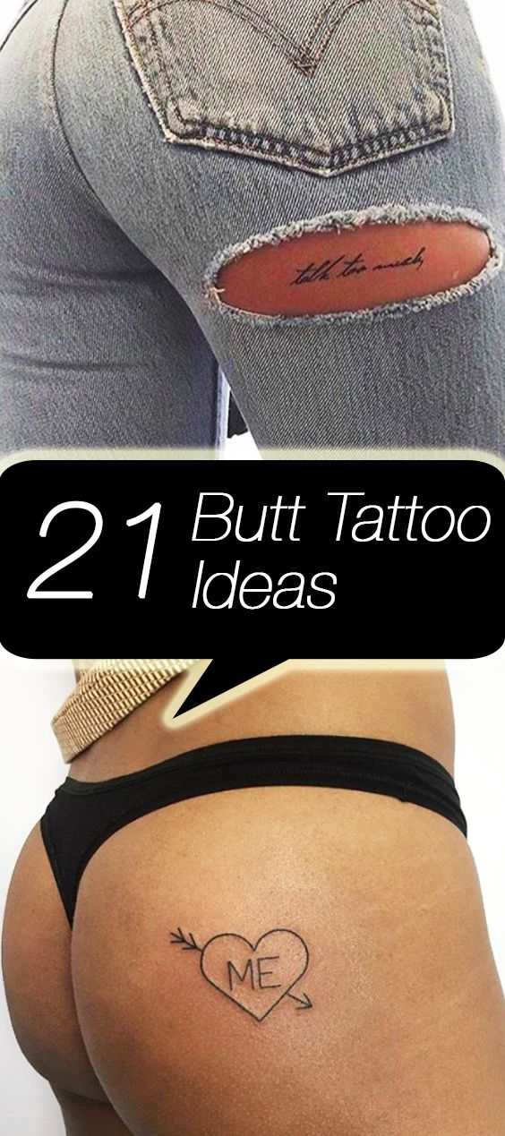 21 butt tattoos for babes who got back tattoos shops for Tattoo on buttocks