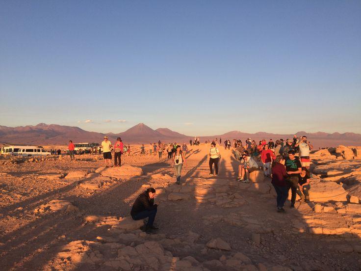 Atardecer Valle de la Luna, San Pedro de Atacama, Chile, fotografía de Luis Echeverría Sevilla