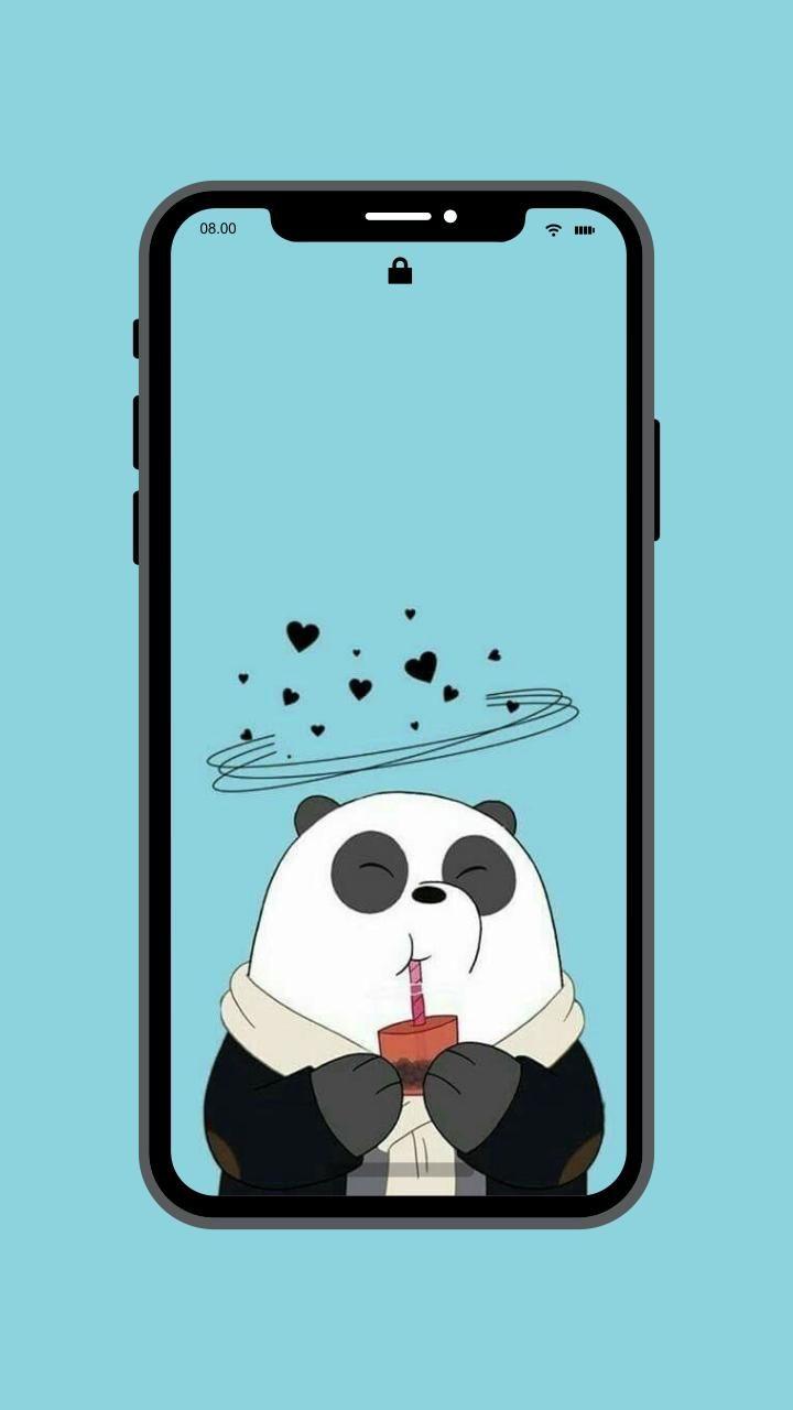 58 Wallpaper Hp Panda Lucu Hd Terbaik Lucu Panda Wallpaper Lucu
