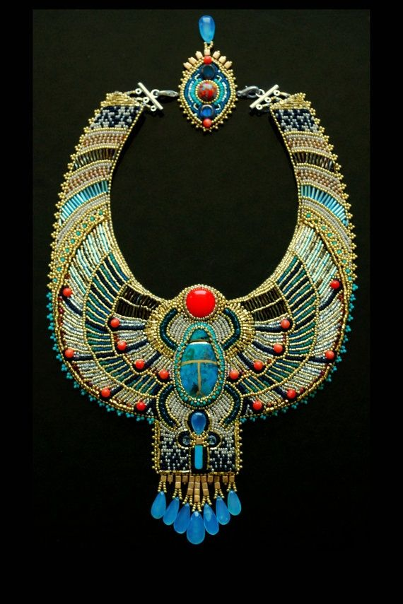 Nice!!! Egyptian necklace.  Love the colors.