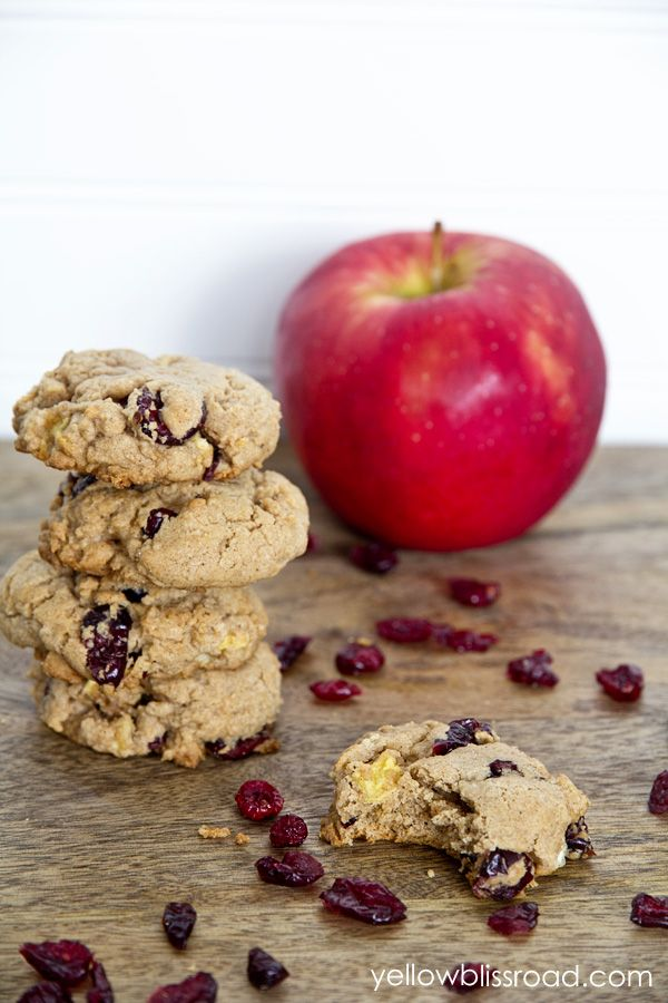 cranberry apple spice cookies