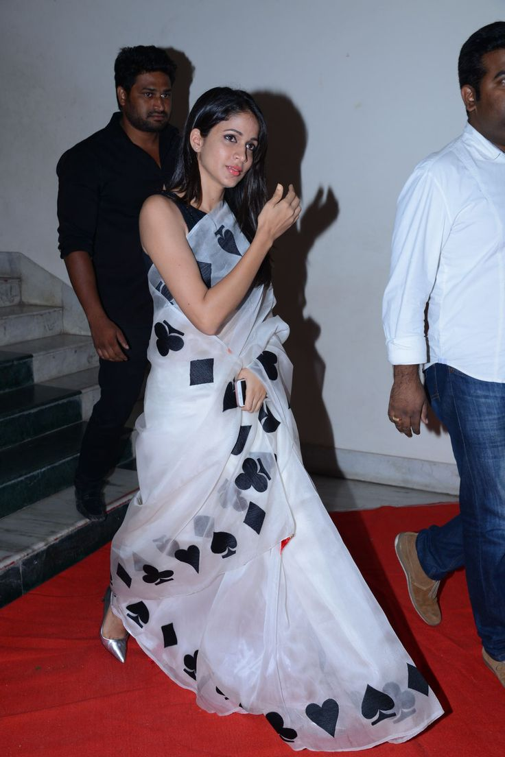 Lavanya Tripathi Stills At Audio Launch In White Saree