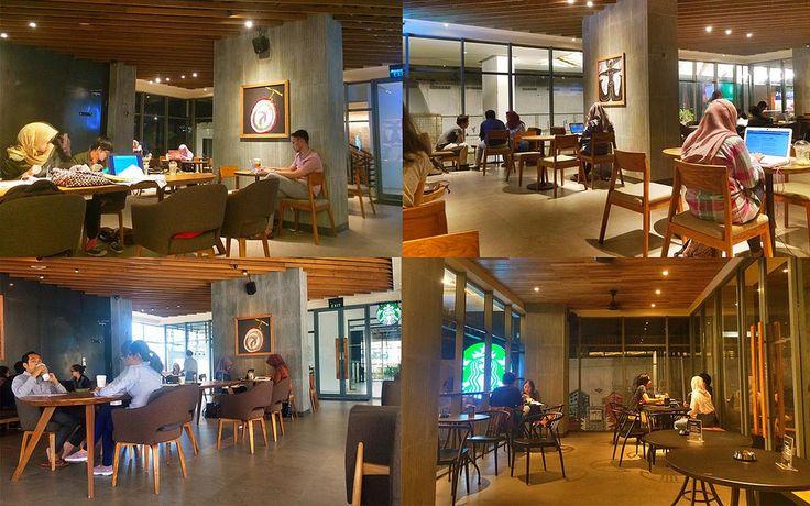 Starbucks di Kaliurang gedung apartemen Uttara The Icon. Silahkan berkunjung, hang-out bersama rekan, nikmati kopi enak sesuai pilihan.
