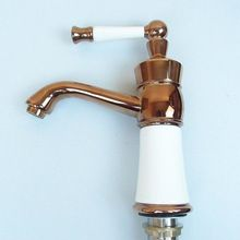 JMKWS White Ceramic Basin Faucets Antique Brass Bathroom Faucet European  Luxury Washbasin Mixers U0026 Taps Tap