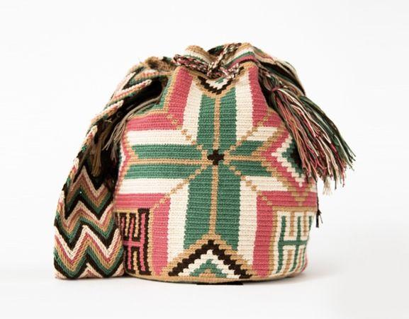 WAYUU TRIBE - Cabo Wayuu Mochila bag. Ladies beach, pool bag. Made in Colombia