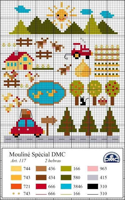 μικρά παιδικά μοτίβα σταυροβελονιά /small children cross stitch motifs