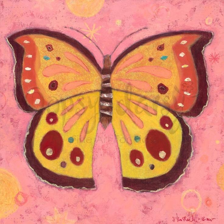 Pink Peace Butterfly - Bugs & Butterflies Canvas Wall Art | Oopsy daisy