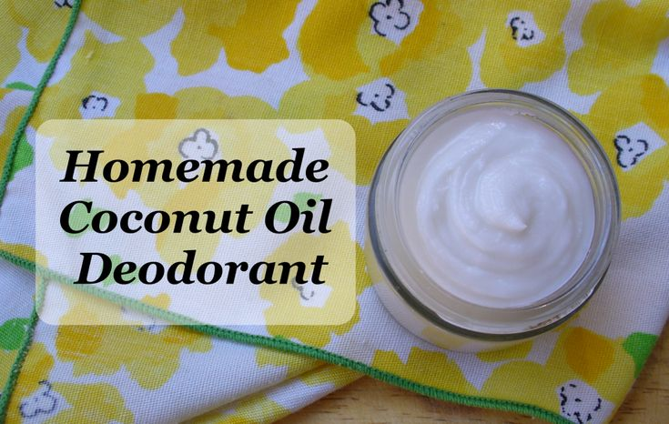 DIY Coconut Oil Deodorant