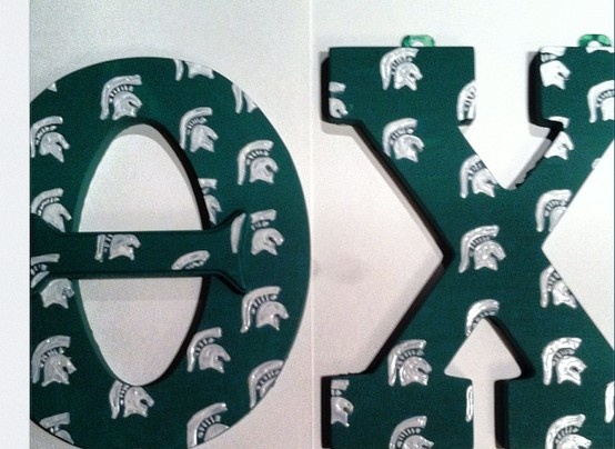 theta chi letters for my favorite spartan