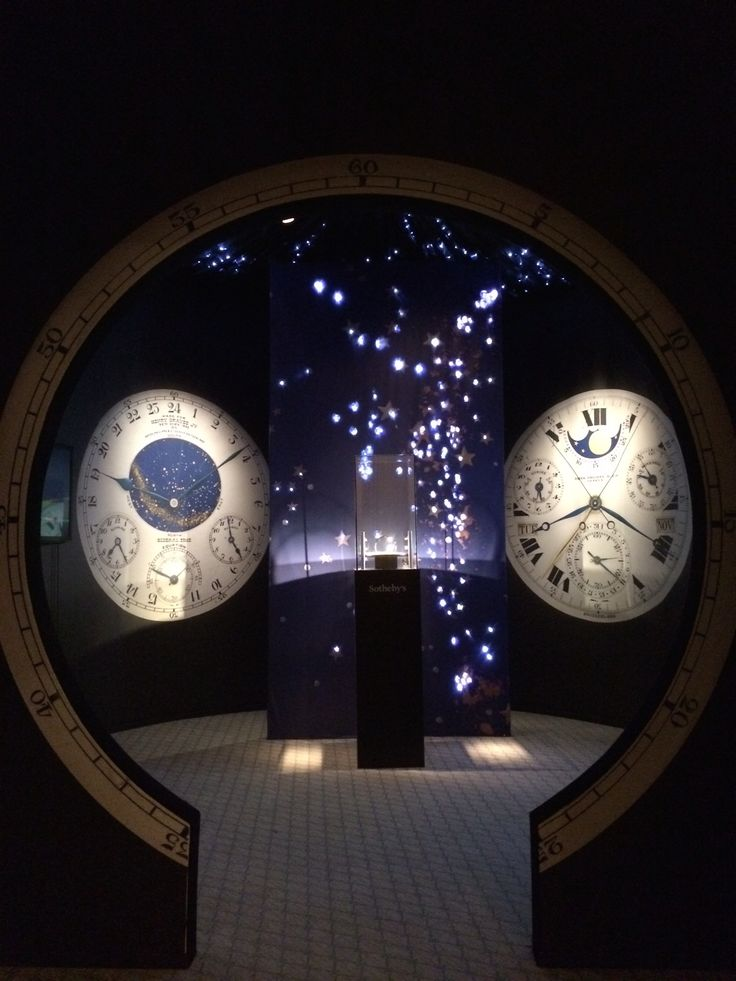 Exhibition for the Patek Phillipe Henry Graves Supercomplication at Sotheby's Geneva - the most expensive watch in the world. Designed and built by 4D Projects.