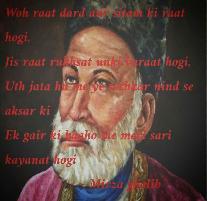 30 Most Popular Classical Sher of Mirza Ghalib (in Hindi)