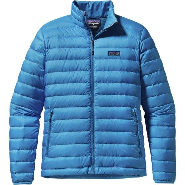 Patagonia Down Sweater Jacket ($195) ❤ liked on Polyvore featuring men's fashion, men's clothing, men's outerwear, men's jackets, mens sweater jacket, mens jackets, mens windproof jacket and patagonia mens jacket
