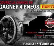 Gagnez un ensemble de pneu Pirelli de 800$