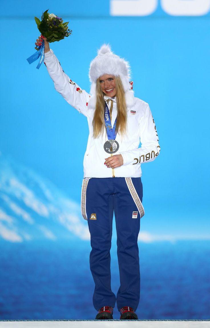 BIATHLON WOMEN'S 12.5km MASS START: Silver medalist Gabriela Soukalova of the Czech Republic