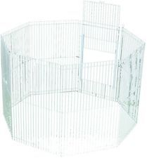 Small Animal Playpen  8 Panel Pet Pen Puppy Dog Exercise Plastic Indoor Activity