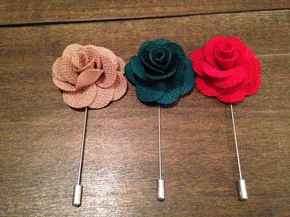 Mens Rosebud Lapel Flower//Boutonniere// Lapel Pin