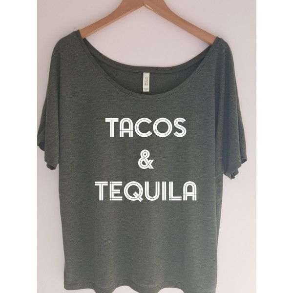 Tacos & Tequila Shirt Cinco De Mayo Shirt Workout Tank Gym Shirt... ($24) ❤ liked on Polyvore featuring grey, tanks, tops, women's clothing, gray shirt, bridal shirts, grey shirt, bridal party shirts and holiday shirts
