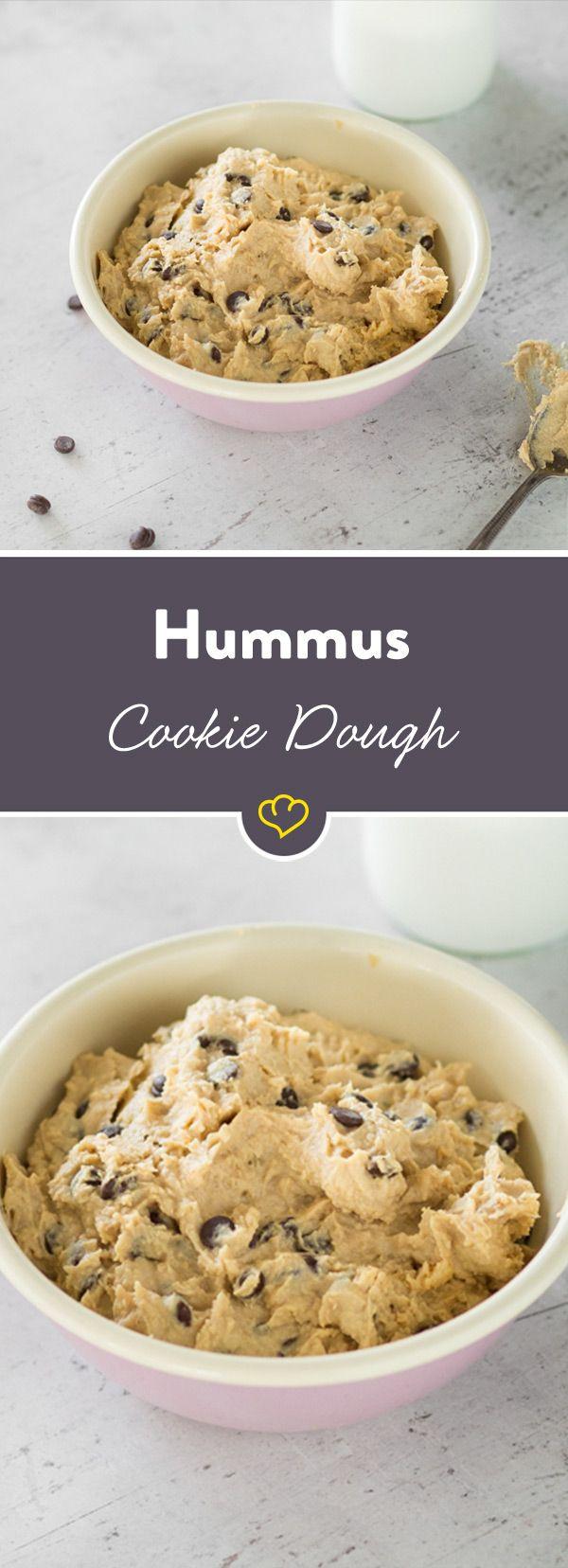 Süßer Hummus? Ob das schmeckt? Und wie! Wer früher als Kind schon gerne Teig genascht hat, der wird mit diesem Hummus-Rezept seine Freude haben.