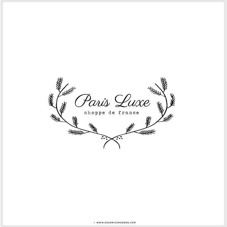 Paris Luxe Logo// One of a kind // Dear Miss Modern Design Shop. Brighten your brand.