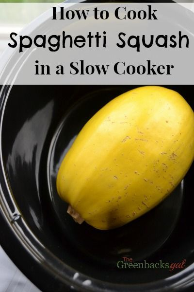 So easy! How to Cook Spaghetti Squash in a Slow Cooker. Best way to cook a spaghetti squash by far!