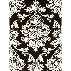 Alliyah Handmade Black New Zealand Blend Wool Rug 4 X 6