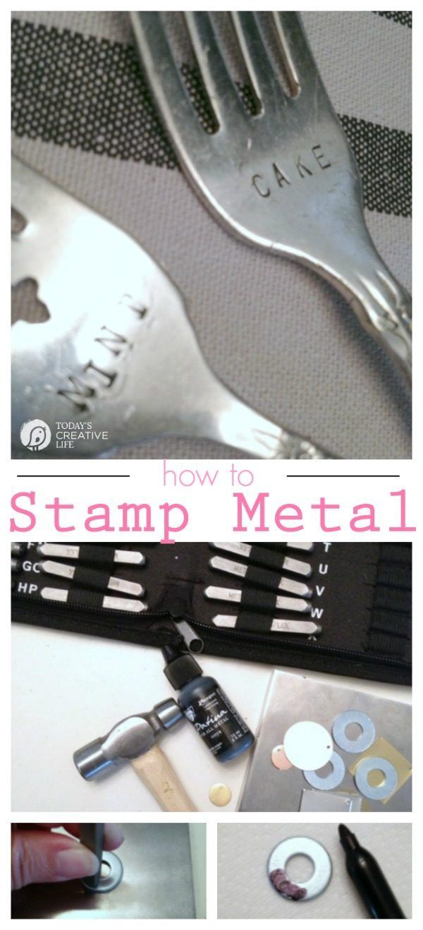 How to Stamp Metal | Follow this easy tutorial to learn what you need and how easy stamping metal is. Stamp metal jewelry and more. See more on TodaysCreativeLife.com
