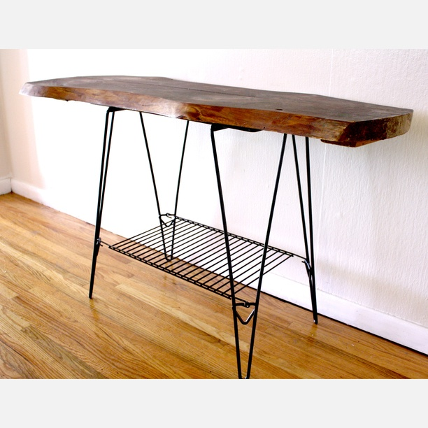 reclaimed wood hairpin leg console tableFurniture Stuff, Wood Products, Hairpin Legs, Apartments Stuff, Consoles Tables, Legs Consoles, Vintage Furniture, Console Tables, Pick Vintage