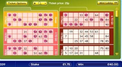 Winning Gala Bingo Ticket