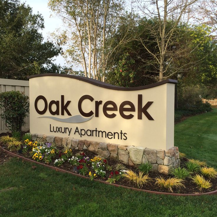 Oak Creek Luxury Apartments Monument ID Sign