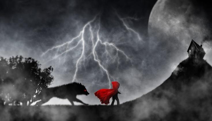 Little Red Riding Hood dark night by Hatanaz Photographie, via 500px