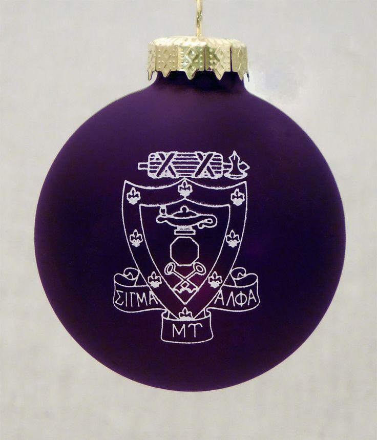 Sigma Alpha Mu, ΣΑΜ, Crest Holiday Ball Ornament by McCarthey NEW #McCartney