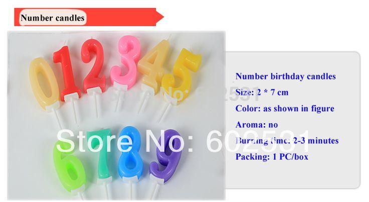 Смешанный цвет цифровой свечи творческий письмо с днем рождения свечи романтической эпохи детской торт ко дню рождения свечи