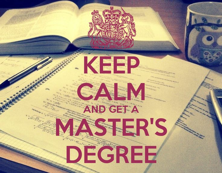 Get a masters degree.