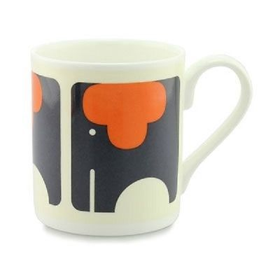 Orla Kiely Bone China Mug - Ellie Elephant. Made in the UK. Tea/Coffee cup. Gift