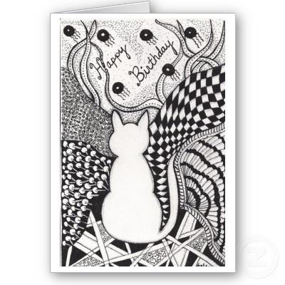 Zentangle Birthday Card
