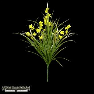 22in.Freesia Bush, Yellow- Outdoor Rated ARTIFICIAL $37  artificial plants unlimited