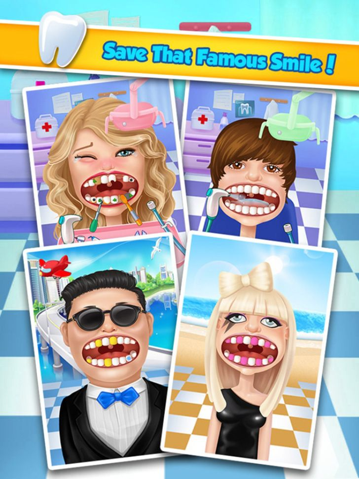 Celebrity Dentist App by Bear Hug Media. Kids Game Apps.