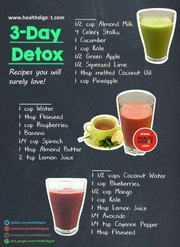 3 day detox smoothies | Smoothies | Pinterest | 3 day ...