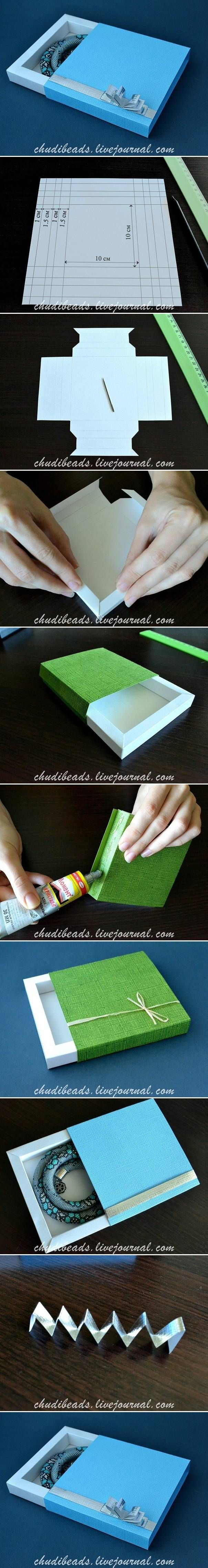 DIY Caja de regalo. TUTORIAL EN FOTOS