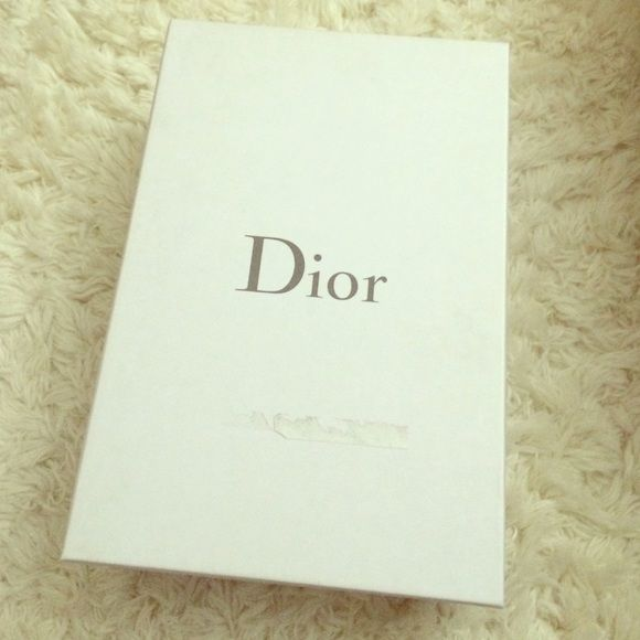 Dior Shoe Box Dior shoe box measures approximately 8in x 12in x 4in. I have two (2) available. This listing is only for one (1) box. Dior Shoes