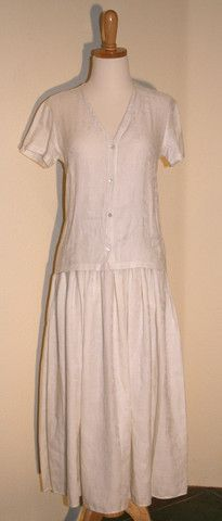 Vintage 80s Calvin Klein Linen Blouse and Skirt   Vintage Duds and Decor