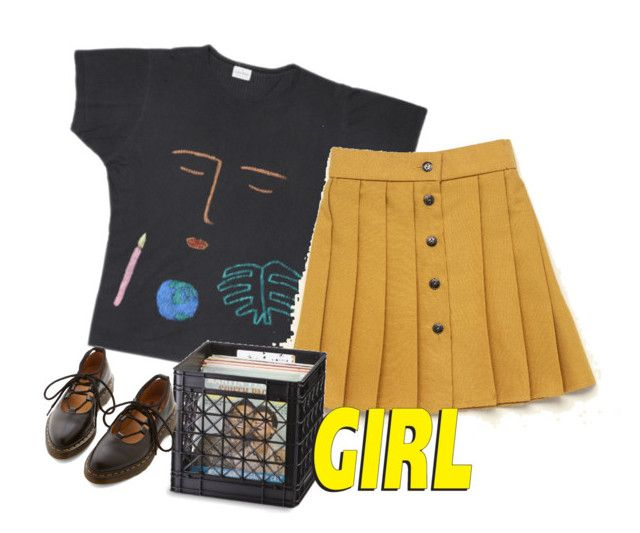 """Art hoe"" by wh0s-that-grrrl ❤ liked on Polyvore featuring Dr. Martens"