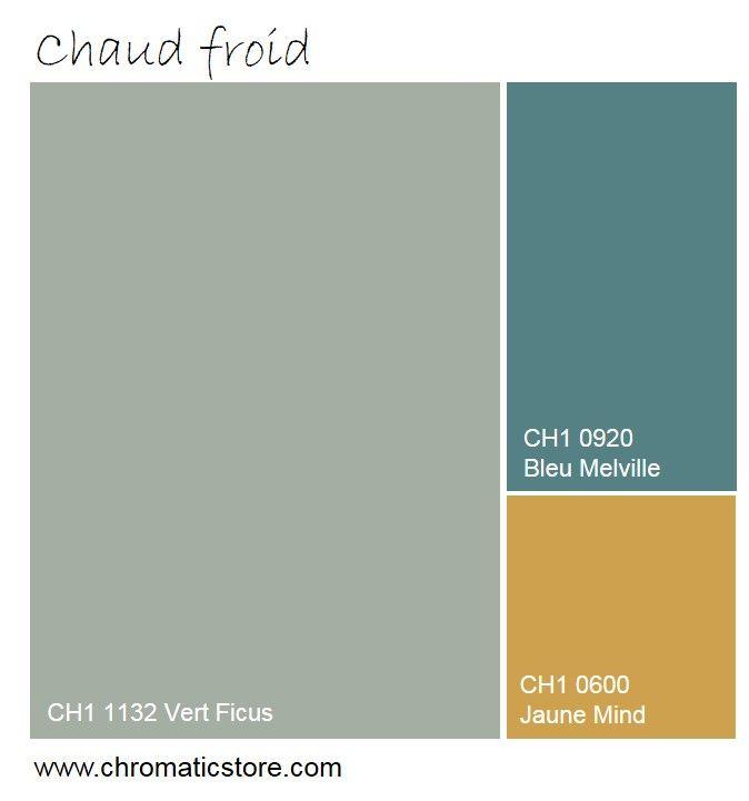 La blondeur du Jaune Mind réchauffe et illumine cette harmonie de tonalités froides. www.chromaticstore.com #deco #couleur2016